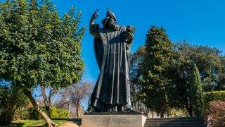 La Statue de Grégoire de Nin à Split en Croatie