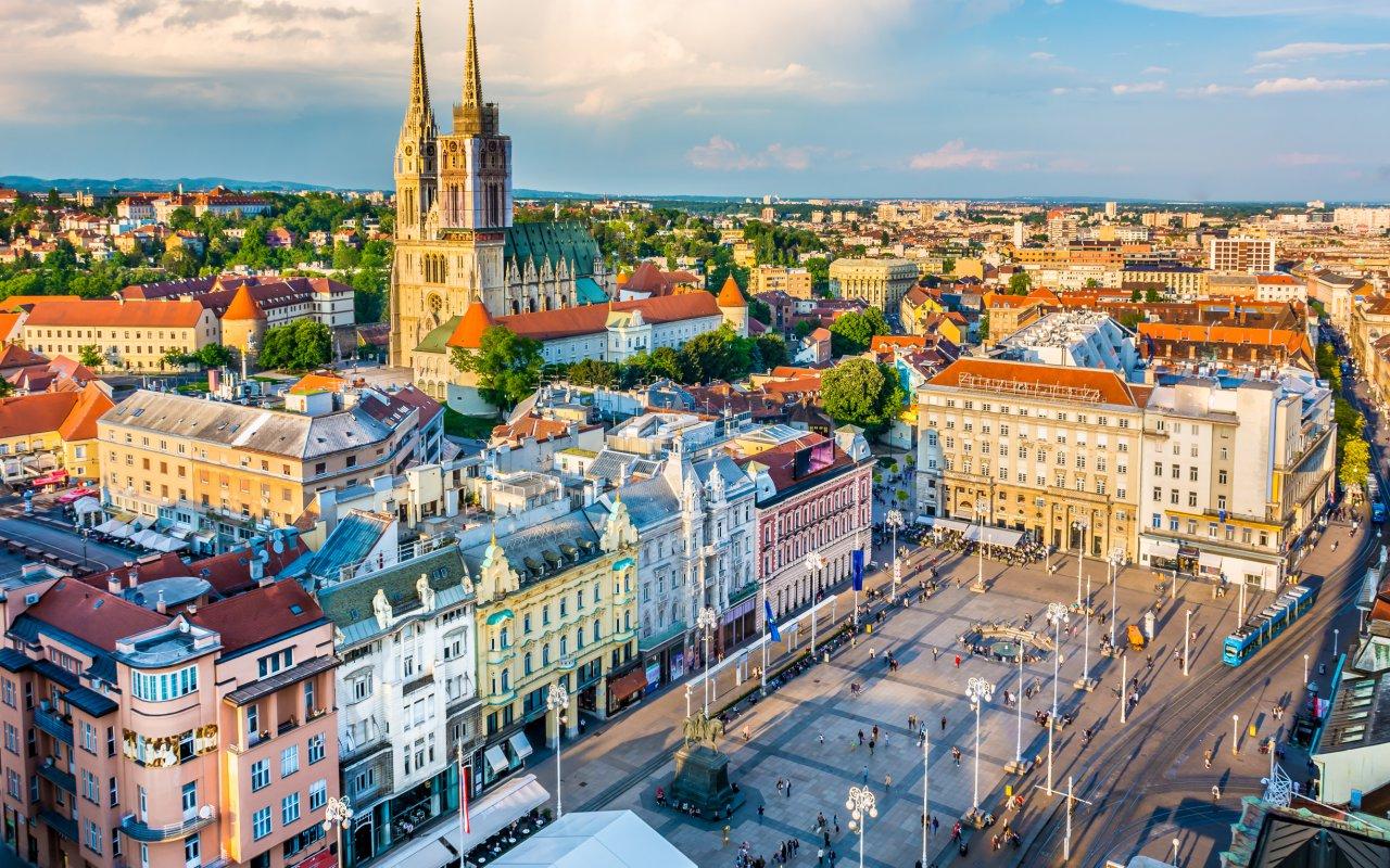 Vue aérienne de Zagreb Croatie en Europe