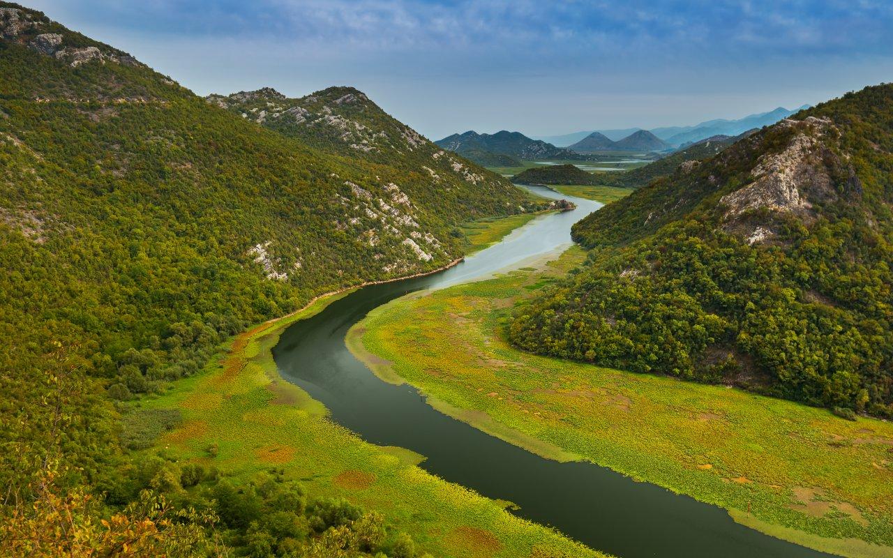 Rijeka Crnojevica Lac de Skadar Montenegro