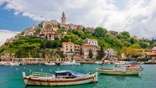 Vrbnik sur l'île de Krk en Croatie