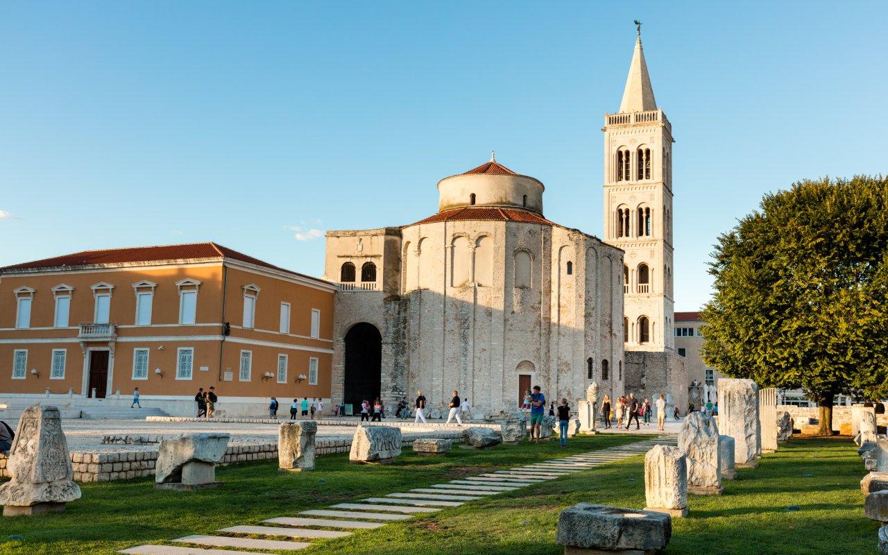 site unesco de Zadar en Croatie