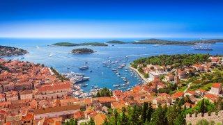 Ile de Hvar Mer Adriatique en croatie