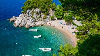 Plage de Podrace Brela Makarska Adriatique croate