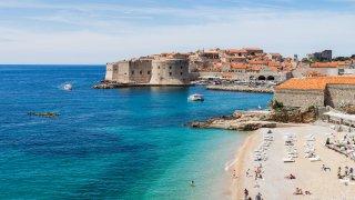 Plage de Banje Dubrovnik Croatie