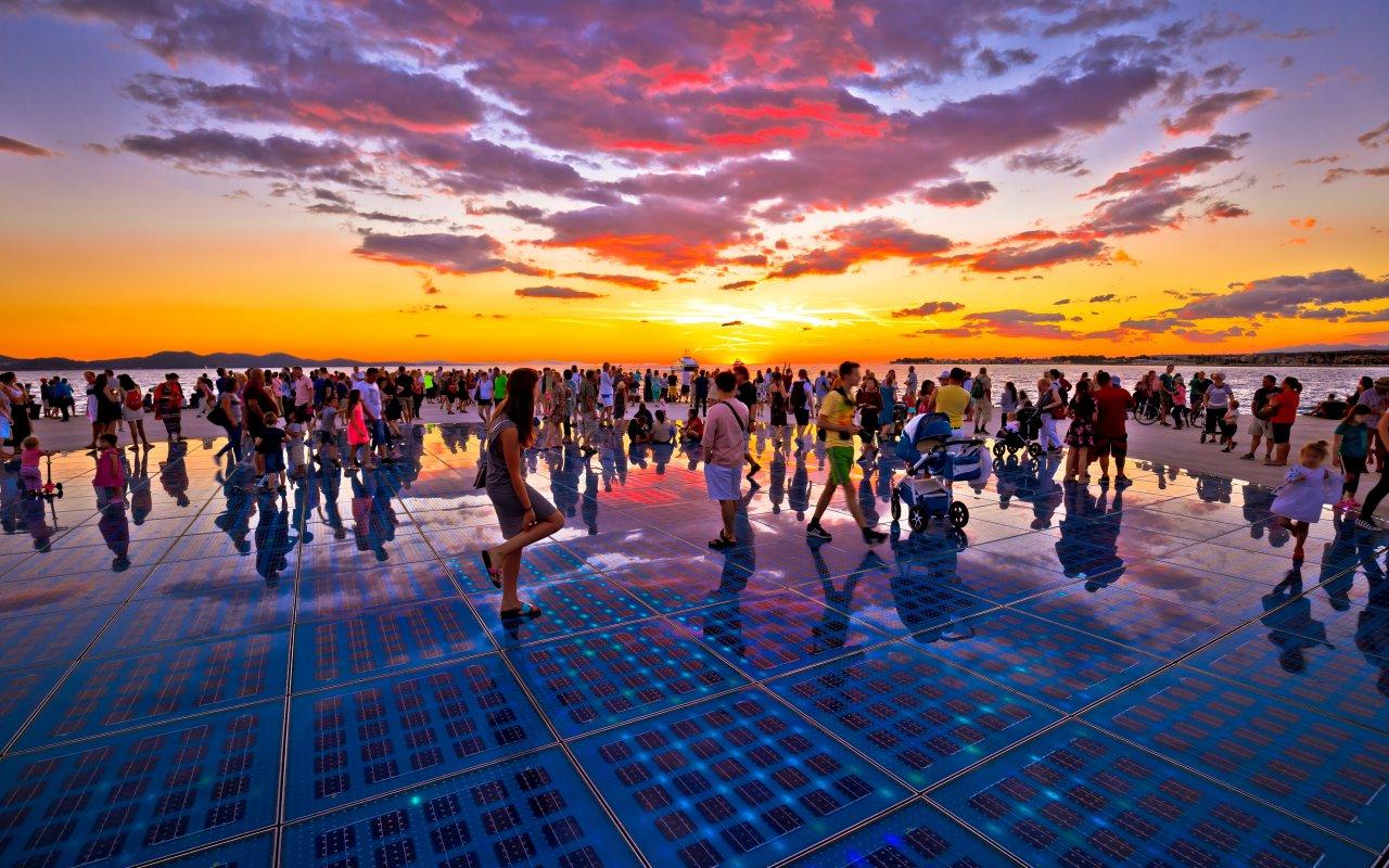 fun fact croatie atypique Zadar sunset - Terra Balka voyages Croatie