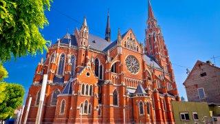 Croatie Osijek cathedrale St Peter et St Paul