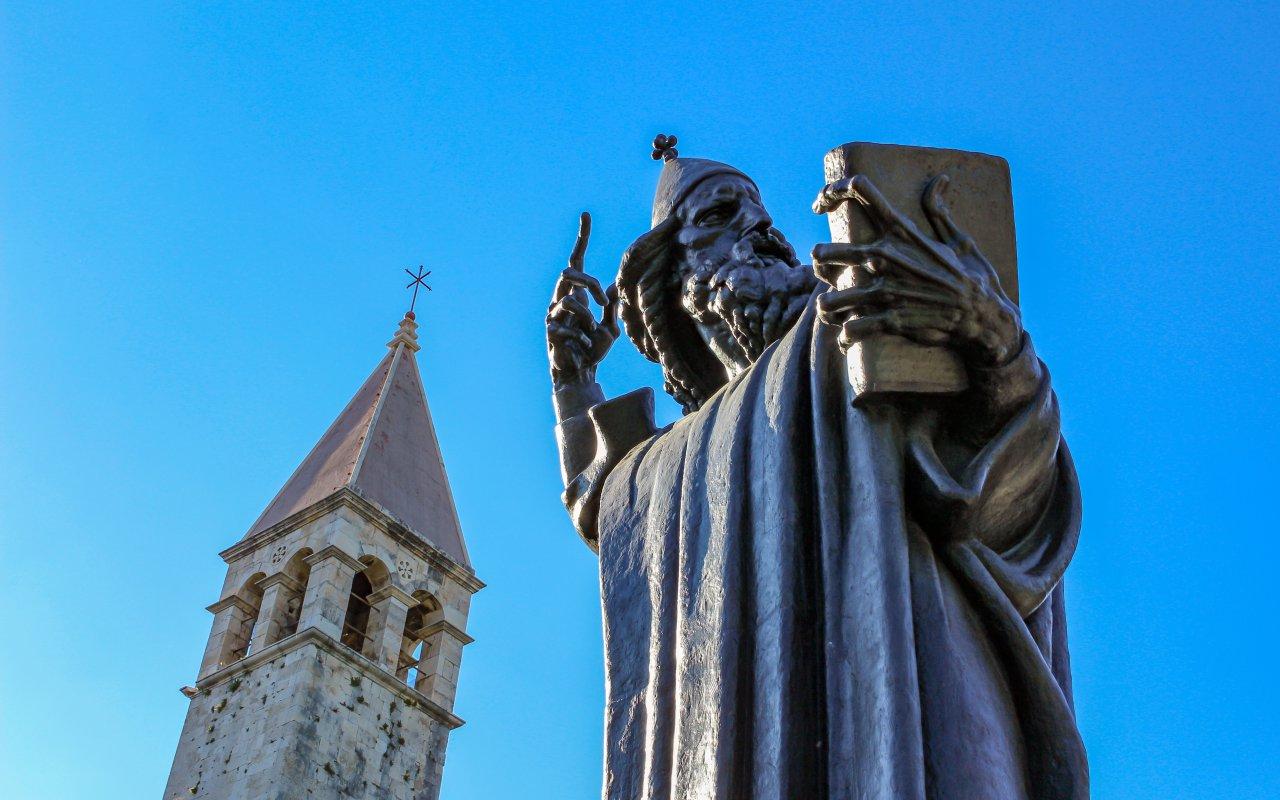Statue de Grégoir de Nin - split croatie