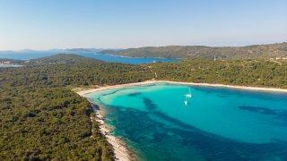 Plage de Sakarun sur l'île de Dugi Otok en croatie