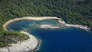 Plage de Saplunara sur l'île de Mljet croatie