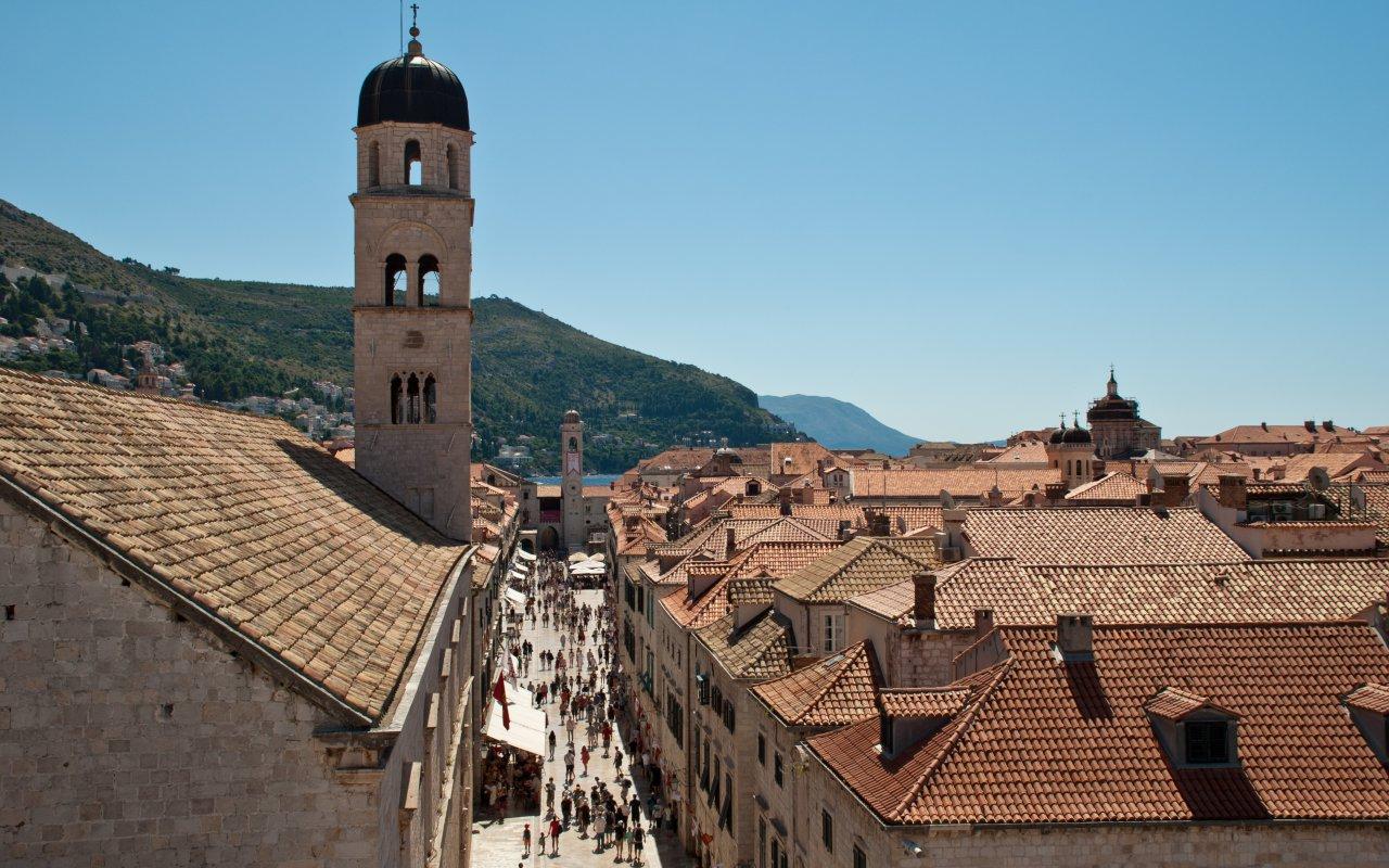 L'avenue Stradun à Dubrovnik - Dubrovnik et l'île de Lokrum - Centre ville de Ljubljana - Circuits sur mesure Croatie