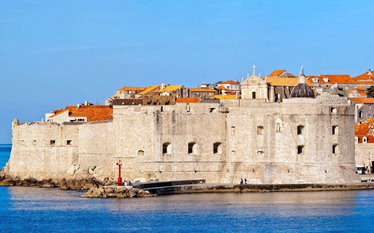Dubrovnik remparts sur l'adriatique Croatie