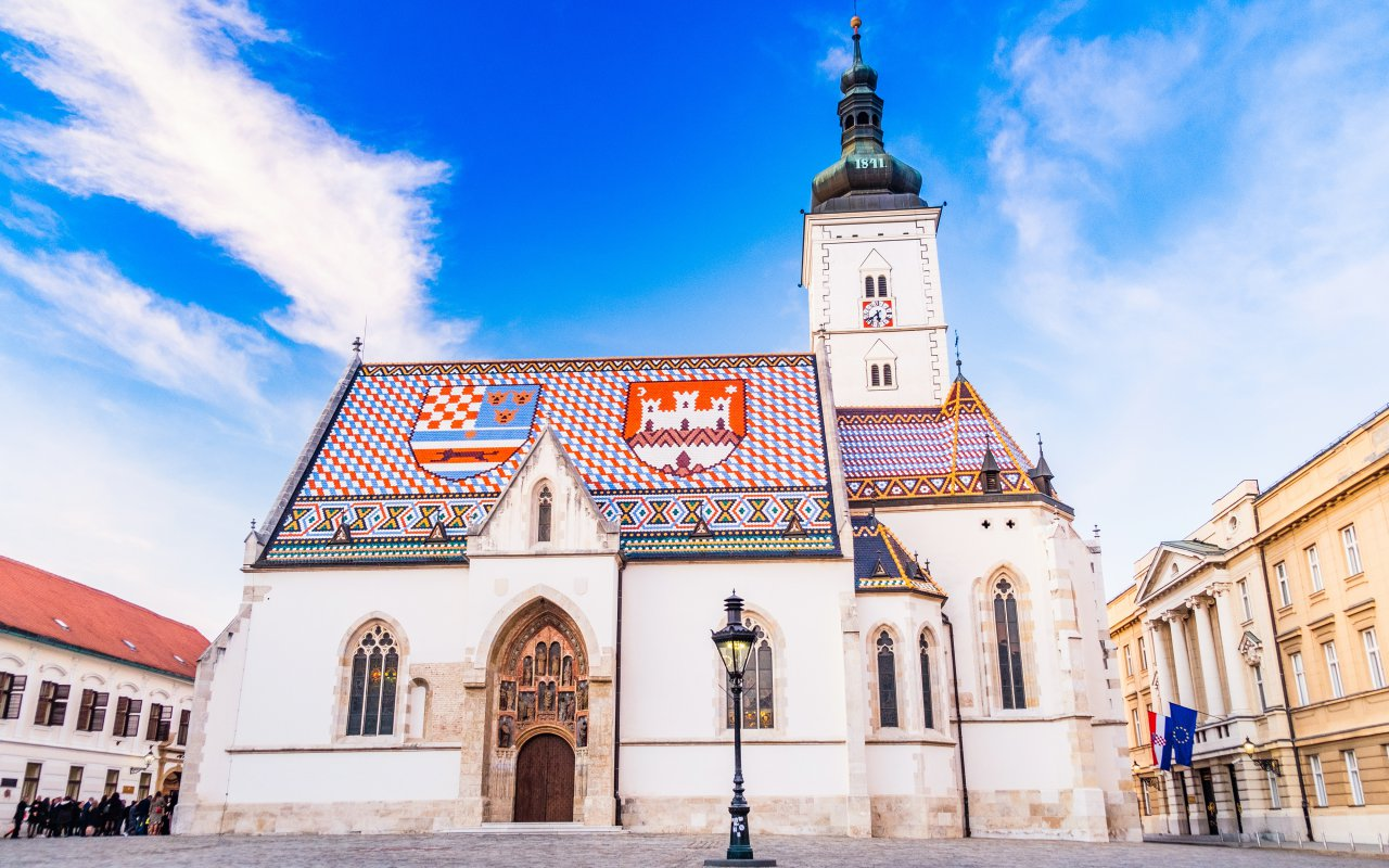 Eglise saint Marc Zagreb - circuits Slovénie Europe - informations croatie