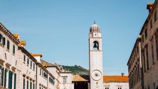 La tour de l'horloge à Dubrovnik Croatie