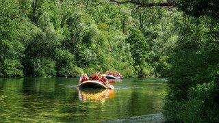 Rafting sur la rivière Cetina près d'Omis