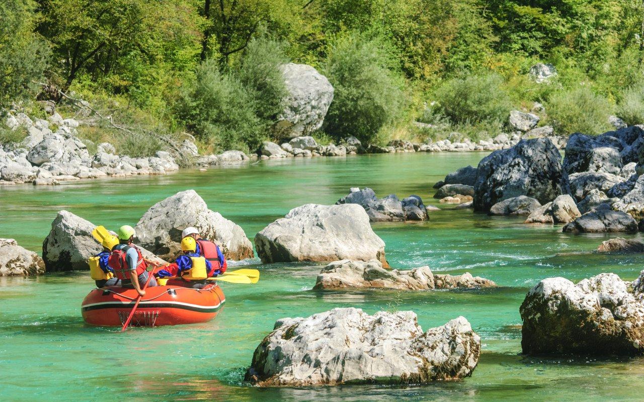 rafting vallée de soca en Slovénie en Europe