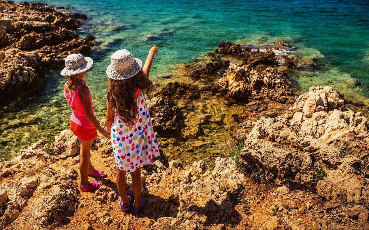 enfants mer adriatique dalmatie - croatie europe terra balka