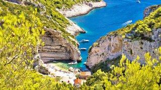 Adriatique croatie ile de vis stivina bay