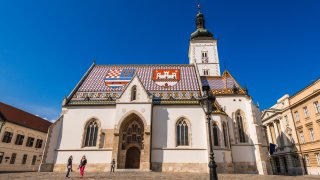 Eglise saint marc de Zagreb Croatie en Europe