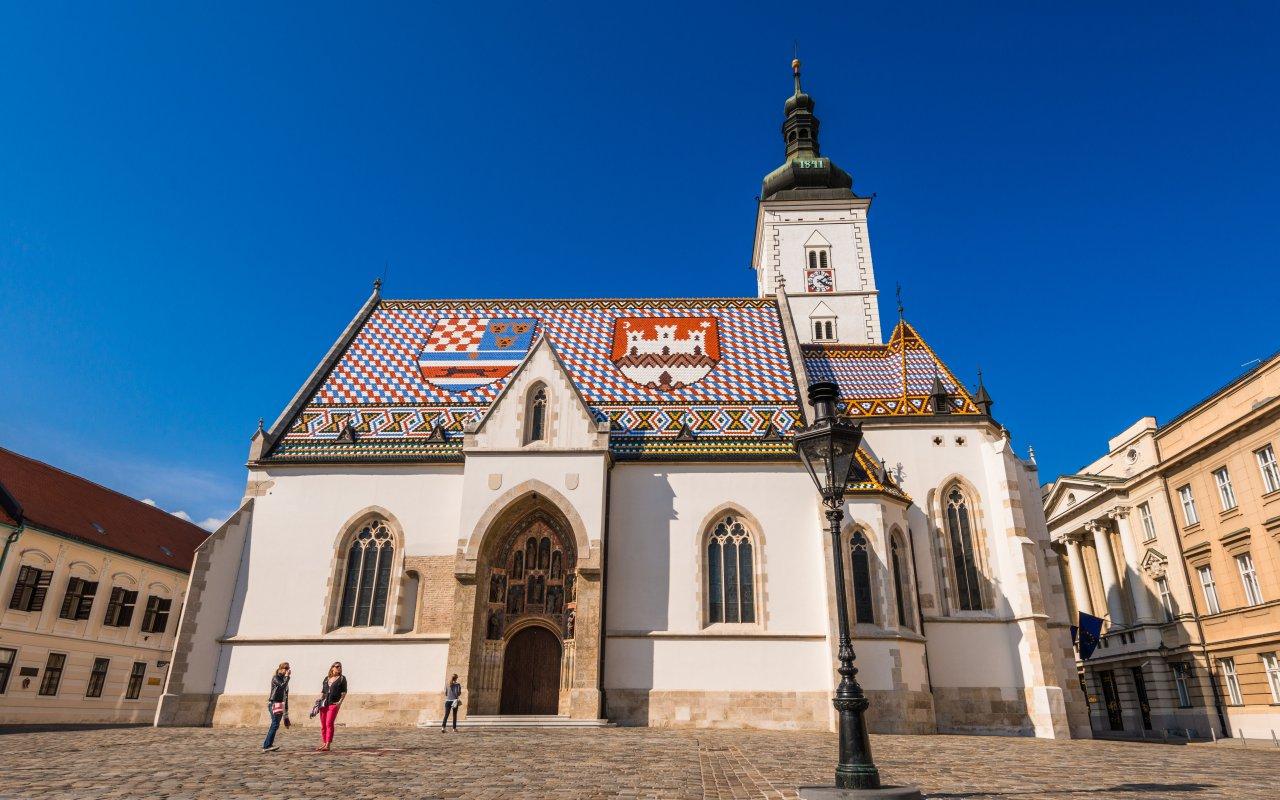 Eglise Saint-Marc à Zagreb - Circuits sur mesure Croatie