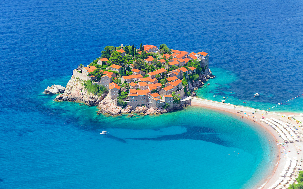 Sveti stefan cote adriatique - vacances sur mesure montenegro