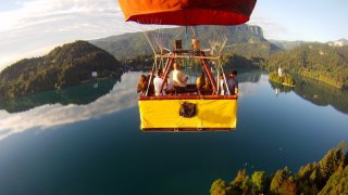 Survol en montgolfière Lac de Bled - Circuits sur mesure Slovénie Europe