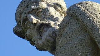 La Statue d'Andrija Medulić - croatie zagreb