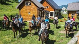 balade a cheval durmitor - vacances famille montenegro terra balka